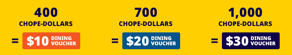 Chope-Dollars Redemption